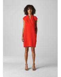 Whistles Sabina V Neck Dress - Red