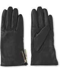 Whistles - Zip Side Leather Glove - Lyst