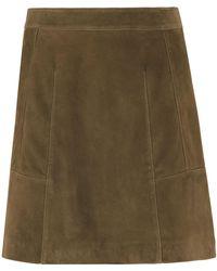 Whistles - Leonie Suede Mini Skirt - Lyst
