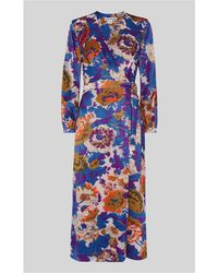 Whistles - Autumn Bloom Devore Wrap Dress - Lyst