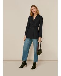 Whistles Aliza Double Breasted Jacket - Black