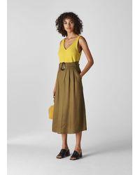 Whistles V Neck Knitted Vest - Yellow