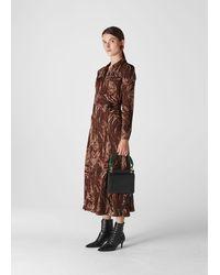 Whistles Elfrida Reed Shirt Dress - Brown
