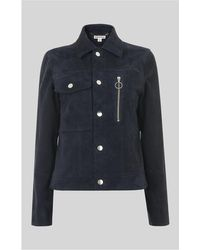 Whistles - Patch Pocket Suede Jacket - Lyst