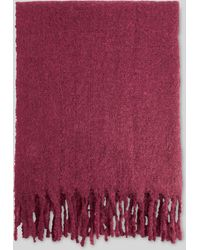 Whistles Open Weave Blanket Scarf - Red