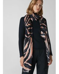 Whistles Lily And Lionel Zebra Scarf - Multicolour