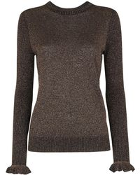 Whistles - Sparkle Frill Cuff Knit - Lyst