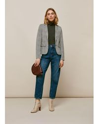Whistles Check Slim Jersey Jacket - Multicolour