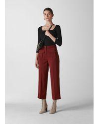 Whistles Ella Pocket Front Trouser - Red
