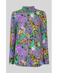 Whistles Simone Floral Print Silk Shirt - Multicolor