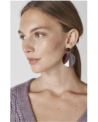 Whistles - Geometric Circle Resin Earring - Lyst