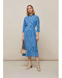 Whistles Watercolour Animal Dress - Blue