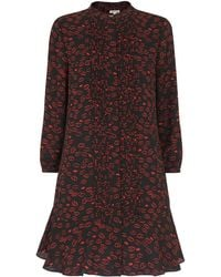 Whistles - Lilly Lips Print Pintuck Dress - Lyst