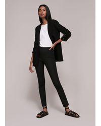 Whistles Super Stretch Trouser - Black