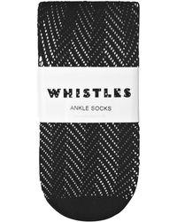 Whistles - Crochet Ankle Socks - Lyst