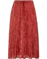 c6d5b7f9a0 Marks & Spencer Floral Print Devore A-line Midi Skirt - Lyst