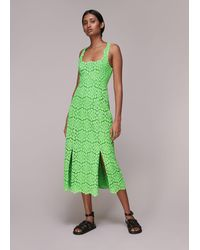 Whistles Noelle Lace Dress - Green