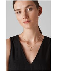 Whistles - Adorned Teardrop Necklace - Lyst
