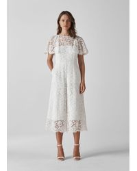 Whistles Victoria Lace Wedding Jumpsuit - White