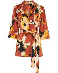Whistles - Sylvia Floral Silk Shirt - Lyst