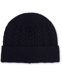 Whistles - Cable Knit Beanie Hat - Lyst