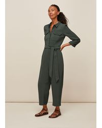 Whistles Lacey Pocket Detail Jumpsuit - Green