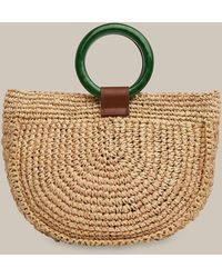Whistles Selby Straw Half Moon Bag - Multicolor