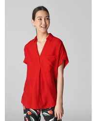 Whistles Lea Shirt - Red