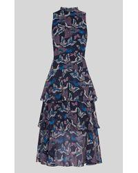 Whistles - Papillion Print Tiered Dress - Lyst