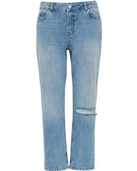 Whistles - Distressed Straight Jean - Lyst
