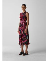 Whistles Scarf Print Wrap Dress - Red