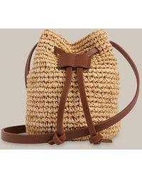 Whistles Abi Mini Straw Drawstring Bag - Multicolour