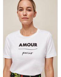 Whistles Amour Paris Logo Tshirt - White