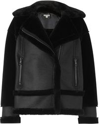 Whistles - Mix Faux Fur Biker Jacket - Lyst
