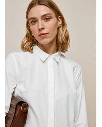 Whistles Cotton Longline Shirt - White