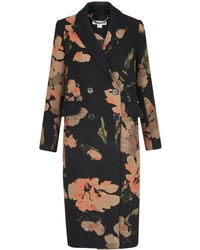 Whistles - Floral Jacquard Coat - Lyst
