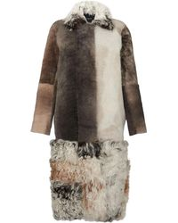 Whistles - Patchwork Sheepskin Coat - Lyst