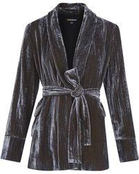 Whistles - Crushed Velvet Wrap Jacket - Lyst
