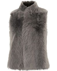 Whistles - Sheepskin Reversible Gilet - Lyst