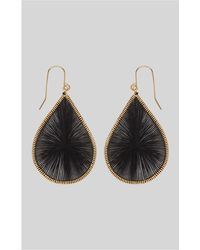 Whistles - Stitched Teardrop Earring - Lyst