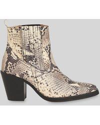 Whistles Allington Snake Western Boot - Multicolour