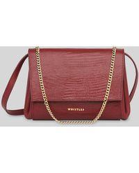 Whistles Eleni Lizard Crossbody Bag - Multicolour