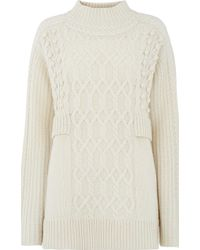 Whistles Oversized Cable Knit - White