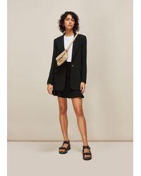 Whistles Ottoman Jersey Flippy Skirt - Black