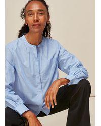 Whistles Stripe Cotton Pocket Shirt - Blue