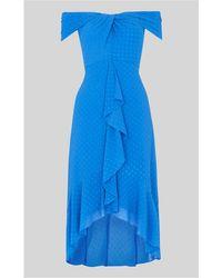 Whistles - Eriko Dobby Bardot Dress - Lyst
