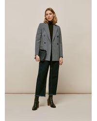 Whistles Aliza Double Breasted Jacket - Grey