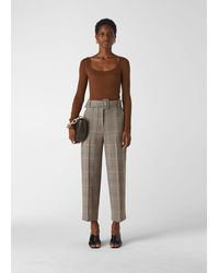Whistles Check Tapered Trouser - Multicolour