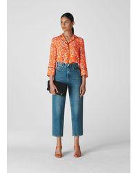 Whistles Digital Daisy Pyjama Shirt - Multicolour