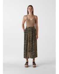 Whistles Animal Print Wrap Trouser - Multicolour
